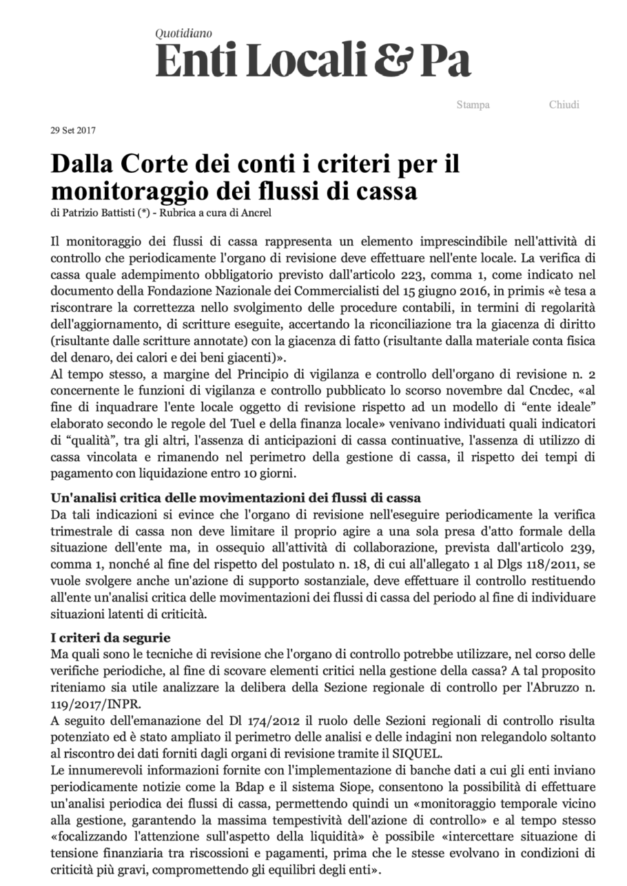 Il Quotidiano Pa Il Sole 24 Ore Archivi Studiobattistiit